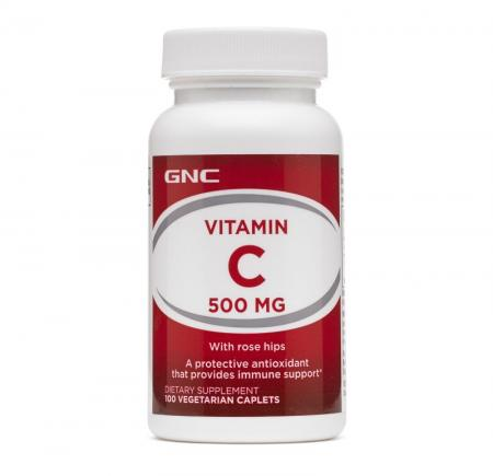 GNC Vitamin C 500 Rose Hips, 100 таблеток