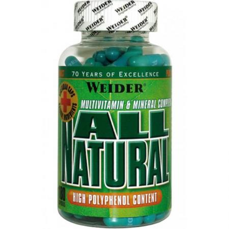 Weider All Natural, 180 капсул