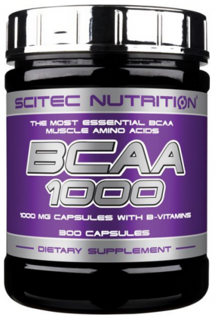 Scitec BCAA 1000, 300 капсул