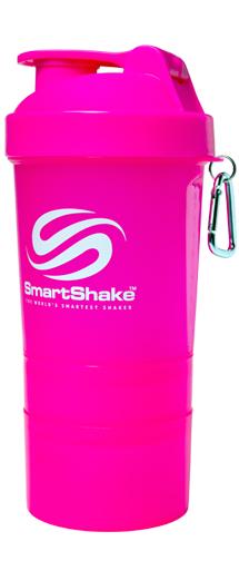Шейкер Smart Shake, 400 мл - розовый