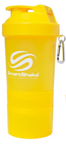 Шейкер Smart Shake, 400 мл - желтый