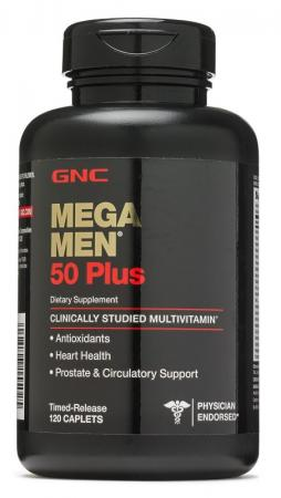 GNC Mega Men 50 Plus, 120 каплет