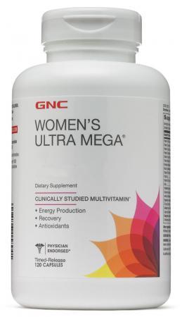 GNC Womens Ultra Mega, 120 капсул