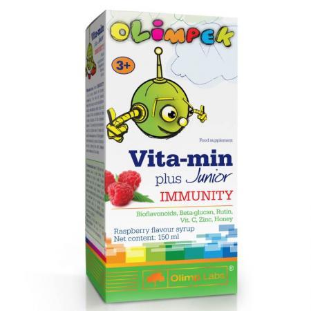 Olimp Vita-min Plus Junior Immunit, 150 мл - малина
