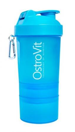 Шейкер OstroVit Smart Shaker, 400 мл + 2 контейнера - синий