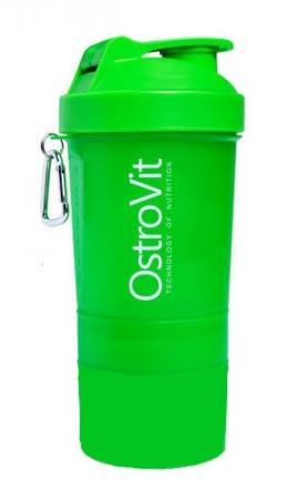 Шейкер OstroVit Smart Shaker, 400 мл + 2 контейнера - зеленый - 1