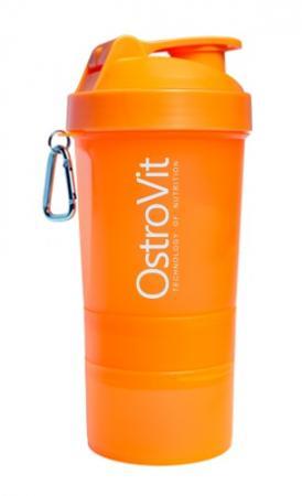 Шейкер OstroVit Smart Shaker, 400 мл + 2 контейнера - оранжевый-1