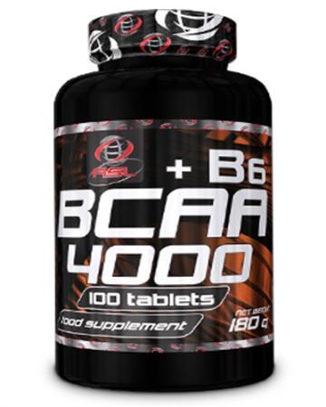 AllSports Labs BCAA 4000 + B6, 100 таблеток