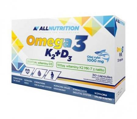 AllNutrition Vit Omega3+D3+K2, 30 капсул