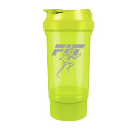 Шейкер Fit MY Drink+контейнер, 500 мл - салатовый цвет