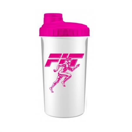 Шейкер Fit MY Drink, 700 мл - бело-розовый цвет