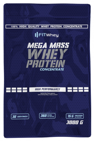 Fit Whey Mega Mass Whey Protein Concentrate, 3 кг