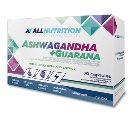 AllNutrition Ashwagandha + Guarana, 30 капсул