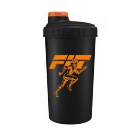 Шейкер Fit MY Drink, 700 мл - черно-оранжевый