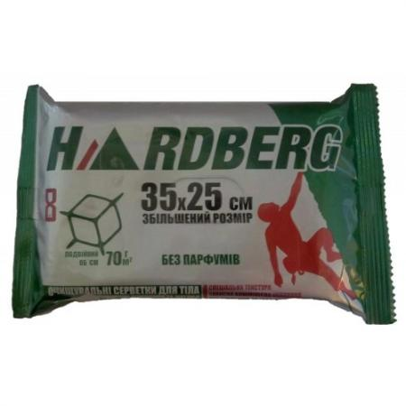 Салфетки HARDBERG 8шт 35х25см - без запаха