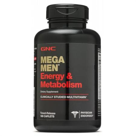GNC Mega Men Energy and Metabolism, 180 каплет