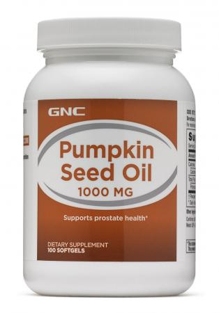 GNC Pumpkin Seed Oil 1000, 100 капсул