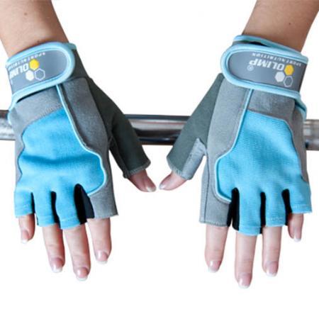 Перчатки женские Olimp Hardcore Fitness One - голубые