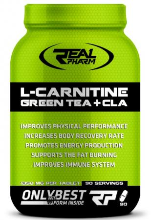 Real Pharm L-Carnitine Green Tea + CLA, 90 таблеток