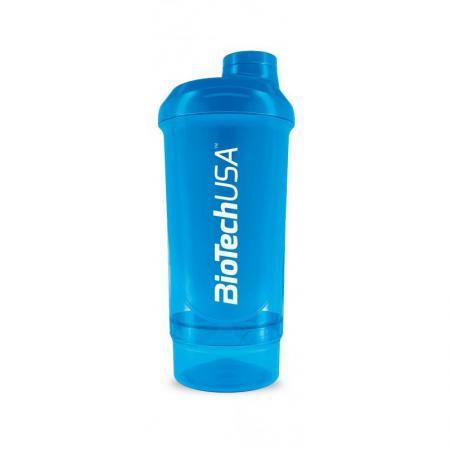 Шейкер Biotech Wave + Compact 500мл (+150мл) - голубой