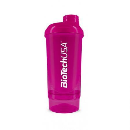 Шейкер Biotech Wave + Compact 500мл (+150мл) - фуксия