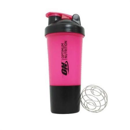 Шейкер Optimum з пружинкою + контейнер, 500 мл - рожевий