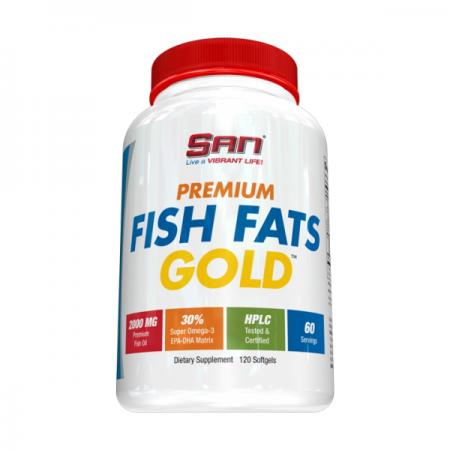 SAN Premium Fish Fats Gold, 120 капсулSAN Premium Fish Fats Gold, 120 капсул