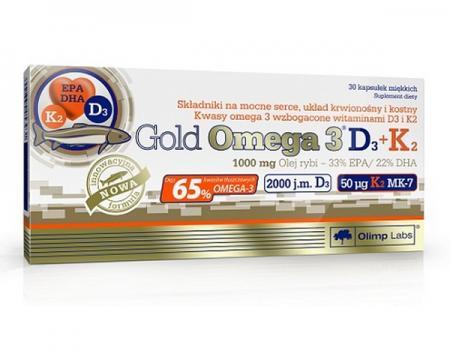 Olimp Gold Omega 3 D3+K2 , 30 капсул