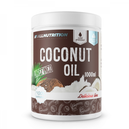 AllNutrition Coconut Oil, Unrefined 1000 мл - Delicious Line