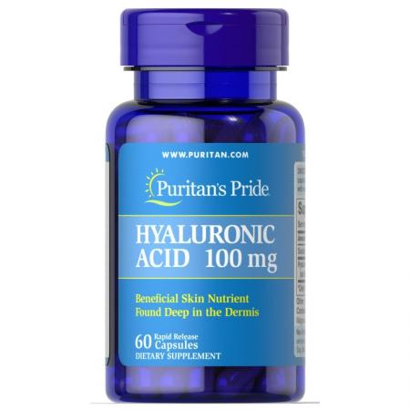 Puritan's Pride Hyaluronic Acid 100 mg, 60 капсул