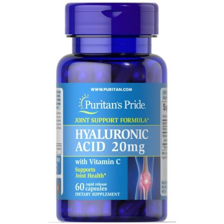 Puritans Pride Hyaluronic Acid, 20 mg 60 капсул