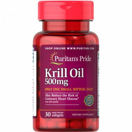 Puritans Pride Krill Oil 500 мг, 30 капсул
