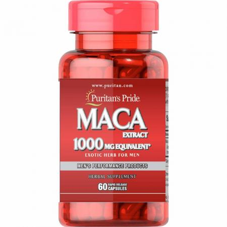Puritans Pride MACA Extract 1000 мг, 60 капсул