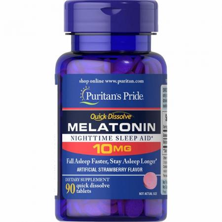 Puritan's Pride Melatonin 10 mg, 90 таблеток