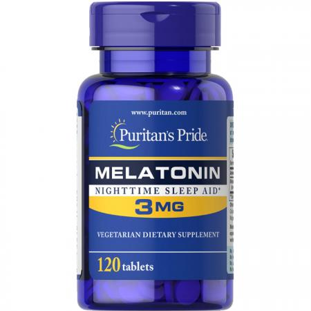 Puritans Pride Melatonin 3 mg, 120 таблеток