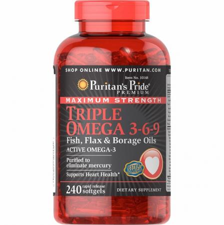 Puritans Pride Triple Omega 3-6-9, 240 капсул