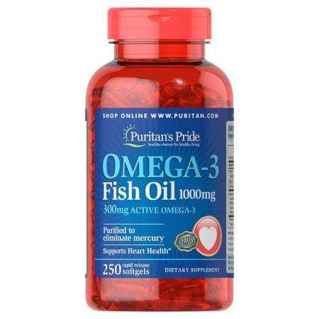 Puritans Pride Omega 3, 250 капсул