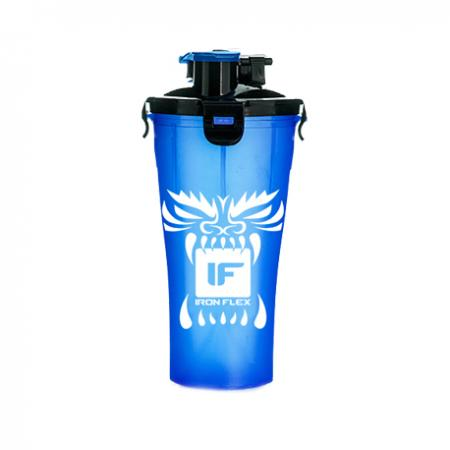 Шейкер IronFlex Hydra Cup Drakon, 828 мл - синий