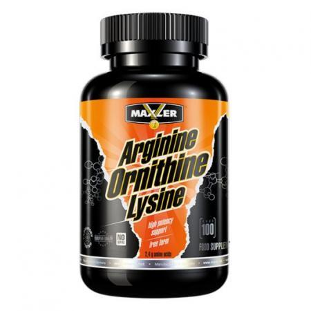 Maxler Arginine Ornithine Lysine, 100 капсул