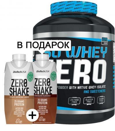 BioTech Iso Whey Zero, 2.27 кг + 2 Biotech Zero Shake, 330 мл