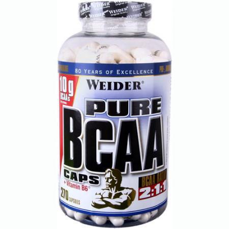 Weider Pure BCAA 2:1:1+B6, 270 капсул