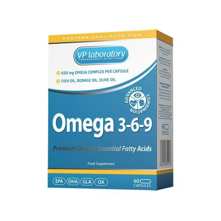 VPLab Omega 3-6-9, 60 капсул