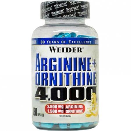 Weider Arginine+Ornithine 4000, 180 капсул