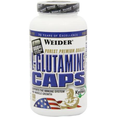 Weider L-Glutamine, 160 капсул