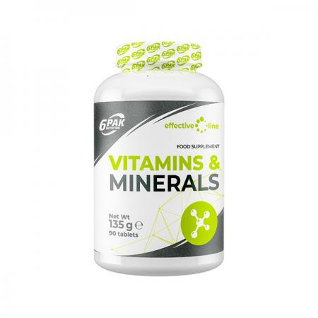 6PAK Nutrition Vitamins & Minerals, 90 таблеток