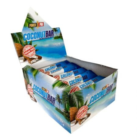 Power Pro Coconut Bar Sugar Free 50 гр, 20 шт/уп