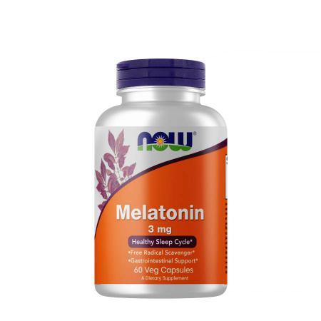 NOW Melatonin 3 mg, 60 вегакапсул