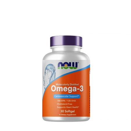 NOW Omega-3, 30 капсул