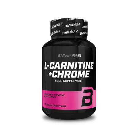BioTech L-Carnitine + Chrome, 60 капсул