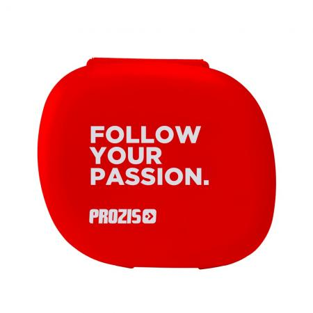 Таблетница Prozis, красная - Follow Your Passion